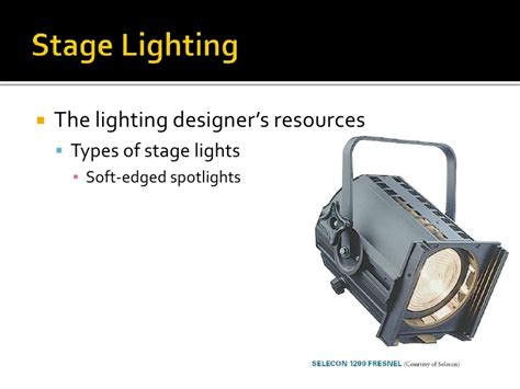 types of stage lights online11 chapter 8