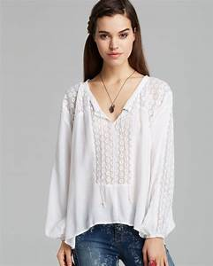 Farfetch Size Chart Lyst Free People Blouse Moon River Easy In White
