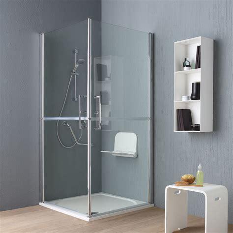cabine doccia per disabili box doccia disabili ed anziani 90x90 cm in cristallo kv