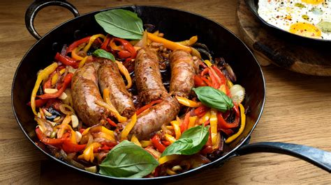 sausage  peppers  onions recipe nyt cooking