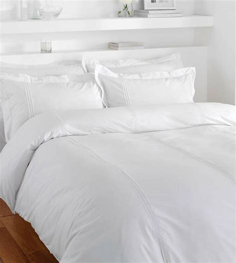 King Sized Duvet by Pintuck Stripes White King Size Cotton Blend Duvet