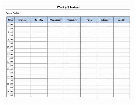 week planner template word elegant  day weekly planner template printable weekly schedule