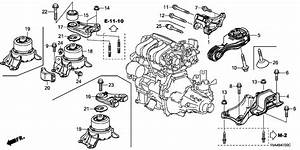 2017 Honda Fit 5 Door Lx Ka 6mt Engine Mount