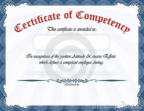 certificate  competency royalty  stock photo image