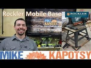 Assembling a Rockler Power Tool Mobile Base Hardware Kit