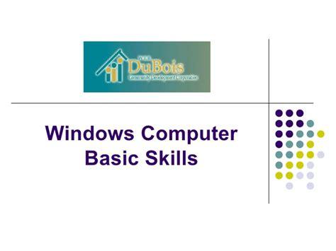 windows basic computer skills