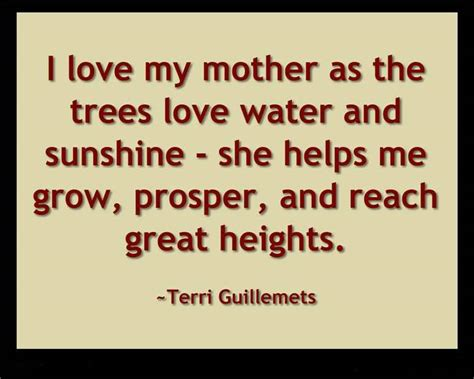 love  mother   trees love water  sunshine