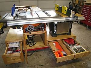 Self containted tablesaw, router and planer workstation