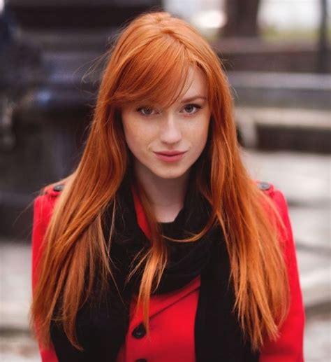 Couleur de cheveux roux orange u2013 Coiffures de mode moderne