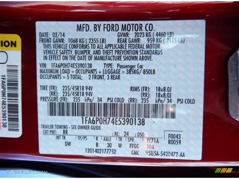 paint codes for ford fusion 2014 ford fusion se color code photos gtcarlot