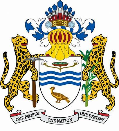 Arms Coat Guyana National Clipart Independence Caribbean