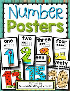 Interactive Charts For Preschool Simple Number Posters 0 20 Simple Bright Number
