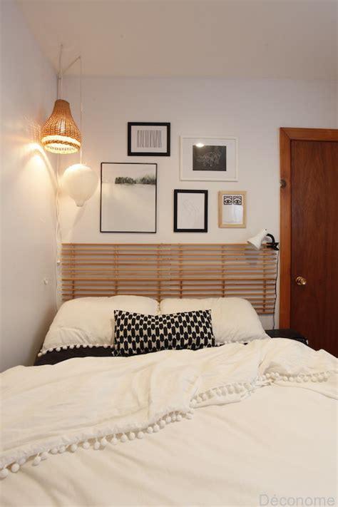 diy une tete de lit avec  range chaussures en bois