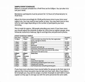 event brief template - 14 event schedule templates word excel pdf free