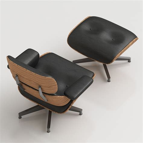 1 1 2 chair and ottoman 3d eames lounge chair high quality 3d models