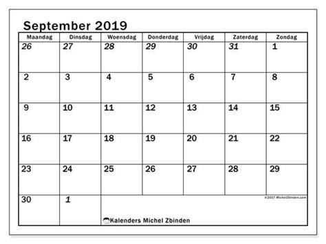 kalender september  mz kalender weekkalender en