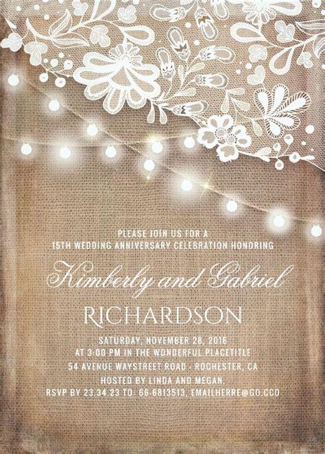 anniversary invitations ideas  pinterest