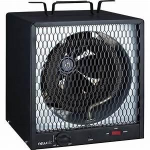 Newair G56 Black Certified Portable Electric Garage Heater