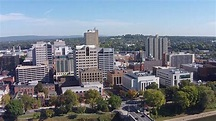 Harrisburg PA, Capital City downtown drone flight over ...