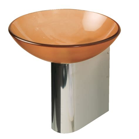 pedestal sink base shop decolav wall mounts 11 875 in h polished stainless