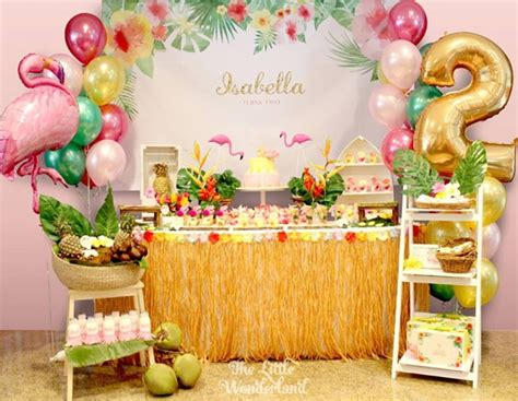 Hawaiian Flamingo Birthday Celebration  Pretty My Party