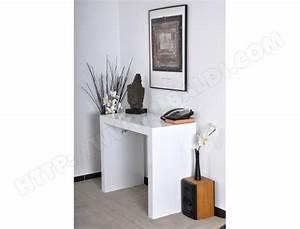 Meuble Console Pas Cher : console ub design algo 3 extensible 45 180 cm blanche pas cher ~ Teatrodelosmanantiales.com Idées de Décoration