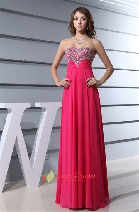 Hot Pink Prom Dresses With Diamonds 2016 For Womenfuschia