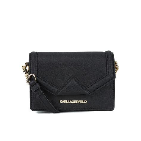 karl lagerfeld kklassik super mini cross body bag black