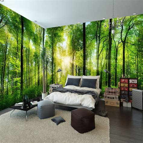 custom mural natural scenery wallpaper forest  landscape