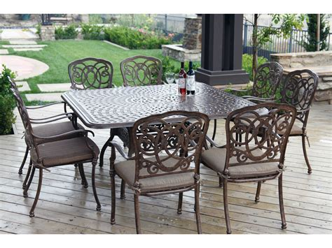 Patio Table Set by Darlee Outdoor Living Series 60 Cast Aluminum 60 Square