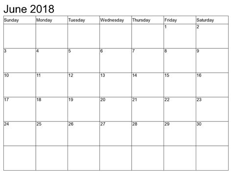 june printable calendar blank templates calendar