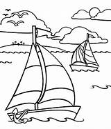 Ocean Coloring Pages Boat Sailing Underwater Drawing Printable Boats Row Dragon Simple Sheets Adult Sail Bestcoloringpagesforkids Plants Getcolorings Ferry Motor sketch template