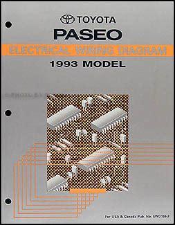 car repair manual download 1995 toyota paseo security system 1992 1995 toyota paseo body collision repair shop manual original