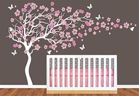 tenture chambre bébé chambre d 39 enfant grand arbre en fleur de cerisier avec