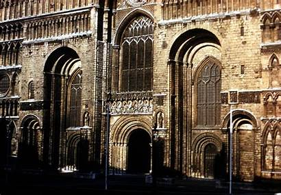 Lincoln Cathedral Exterior Sculpture Medieval Cath England