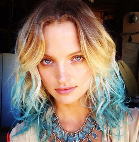 Short Blonde Hair Blue Tips But If Youre All For It Go