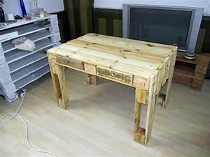Tisch Aus Paletten : weiteres schreibtisch tisch aus gebrauchten paletten ein designerst ck von ~ Yasmunasinghe.com Haus und Dekorationen