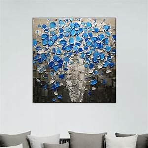 Tableau Fleurs Moderne : tableau de fleur bleues ~ Teatrodelosmanantiales.com Idées de Décoration