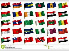 Collage From Flags Of The Different Countries Royalty Free