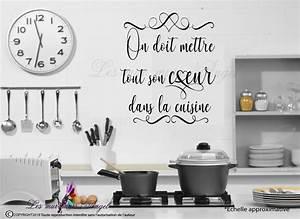 Stickers Muraux Cuisine : sticker cuisine citation ~ Premium-room.com Idées de Décoration