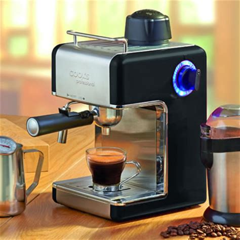 cooks professional italian espresso coffee machine daily