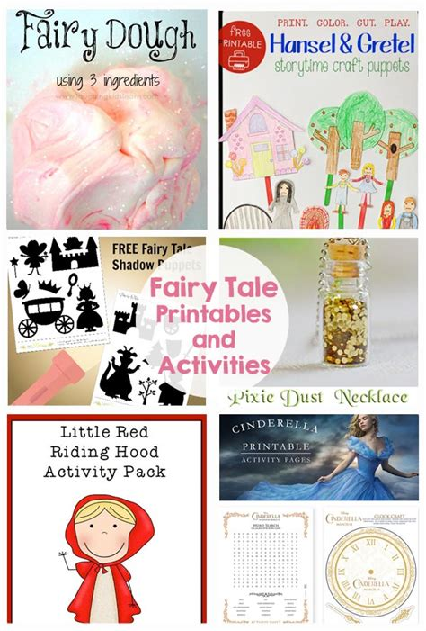 fairy tale printables  activities  crafting chicks