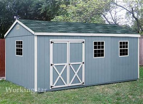 10 x 20 gable storage shed do it yourself prject plans e1020