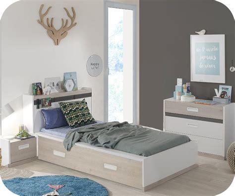 armoire chambre enfants chambre enfant iléo blanche et bois set de 4 meubles