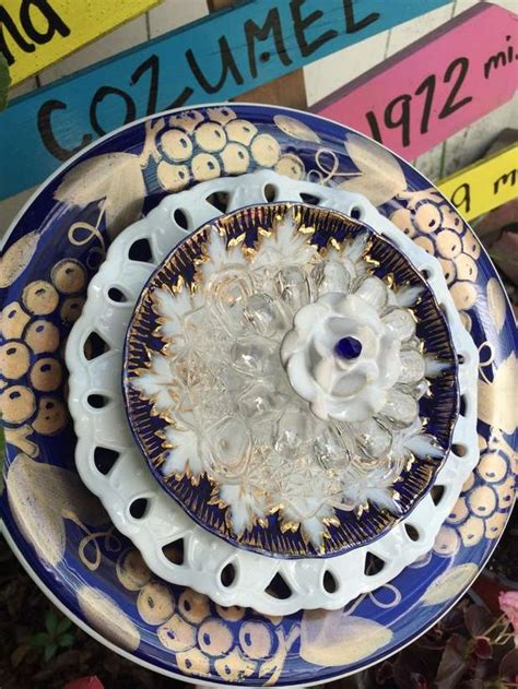 Garden Using Plates by 20 Upcycled Garden Glass Flowers Made Of Plates