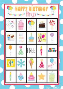 Free Printable Birthday Bingo