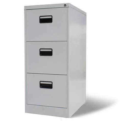 range document bureau armoire de bureau en métal à 3 tiroirs gris meuble