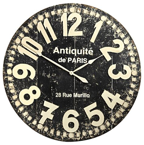 grandiose wall clock black traditional clocks by pier 1 imports