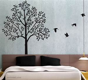 30 beautiful wall art ideas and diy wall paintings for for Wall paintings design