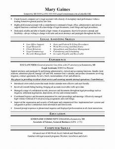 sample legal assistant resume resume ideas With legal secretary resume samples